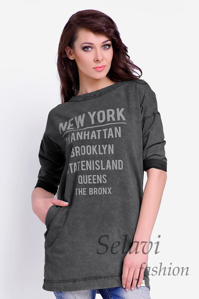 Bluza tunika dresowa New York