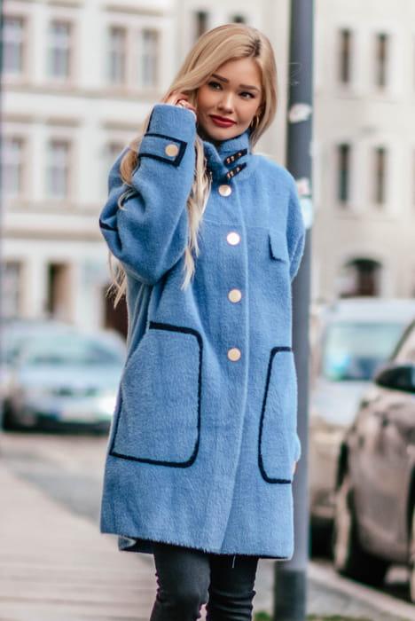 Płazcze damskie modne z alpaki, nubuku, klasyczne, długie
